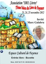 Salon du Livre de Fayence organisé par« 1001 LIVRES »