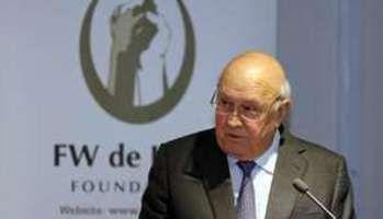 Afrique du Sud : l'ex-président De Klerk accuse...