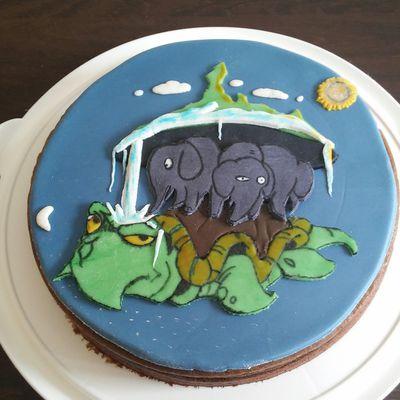 Gâteau Disque Monde