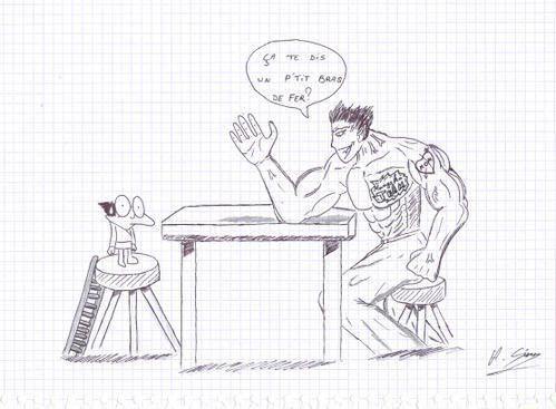 Bras de fer par Adrien