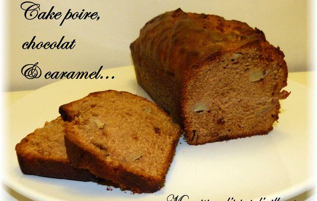 Cake poire, chocolat & caramel...