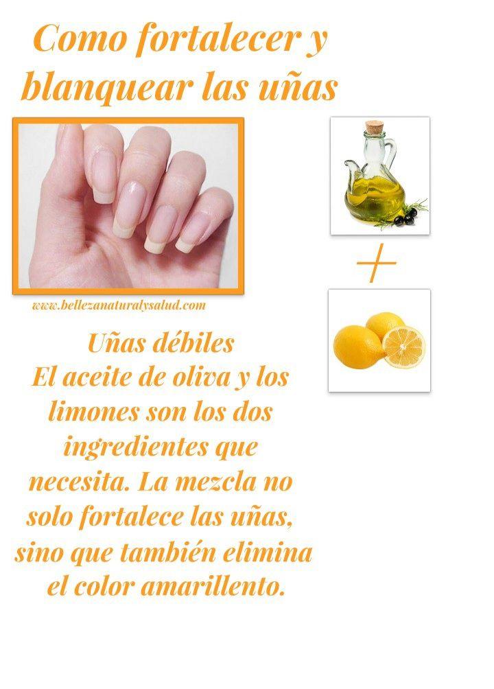 Como fortalecer y blanquear las uñas