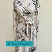 The Easy Wrap Dress Pattern - Elegance At Your Fingertips - So Sew Easy