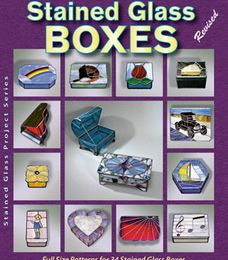 Livre de patrons Stained Glass Boxes disponible en boutique www.vitrail-tiffany.com