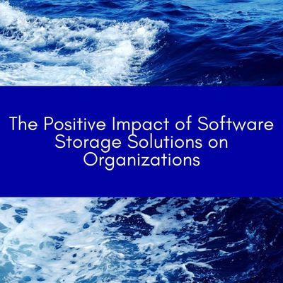 The Positive Impact of Software Storage Solutions on Organizations