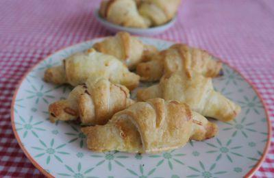 Petits croissants au fromage et jambon