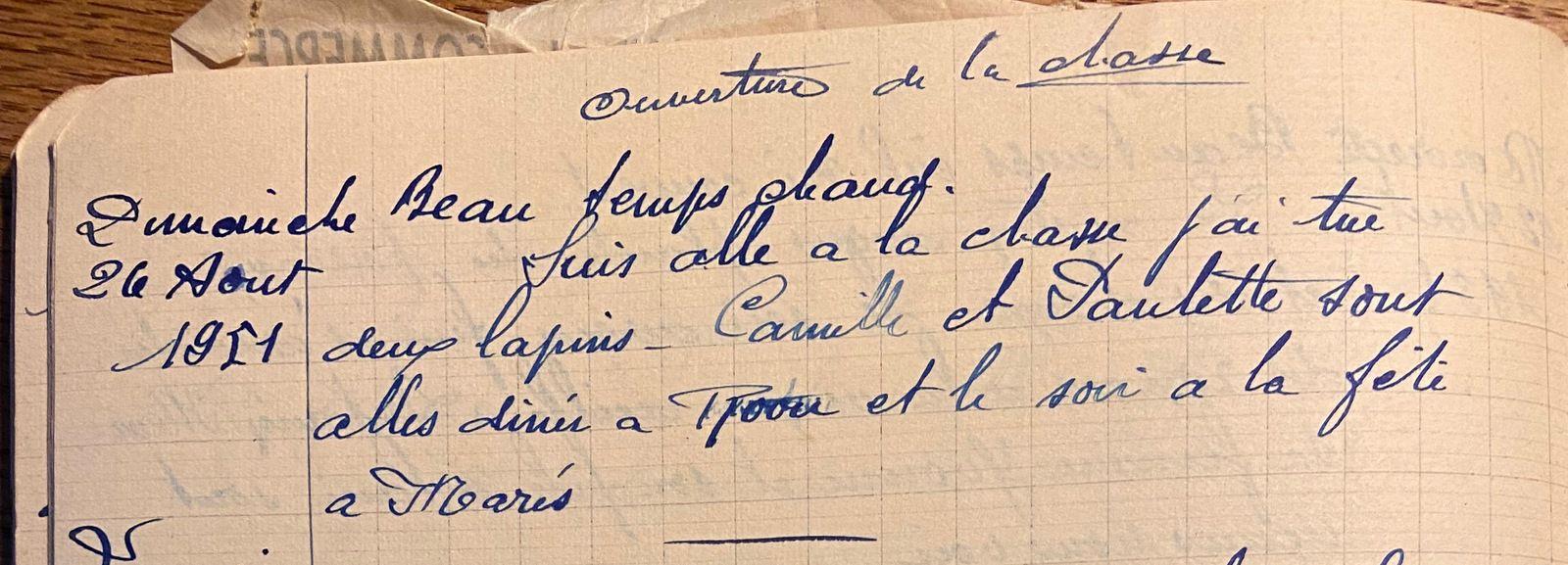 Dimanche 26 août 1951 - les deux lapins