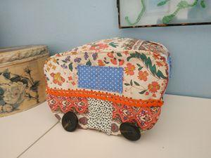 Caravane vintage, en tissu