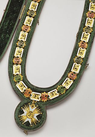 COLLIER DE CHEVALIER DE SAINT HUBERT