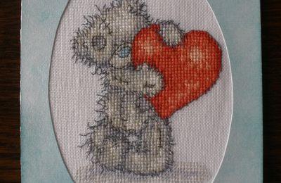 Carte tatty teddy coeur