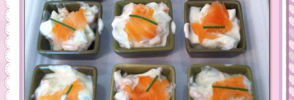 Mise en bouche saumon-concombre