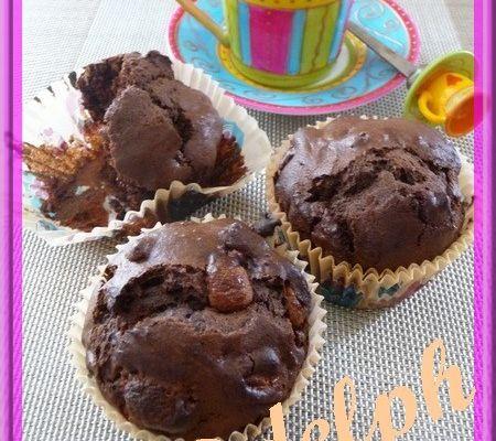 Muffins au chocolat.