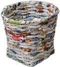 Pratique - Comment tresser un panier avec du papier journal, vannerie de papier, recup