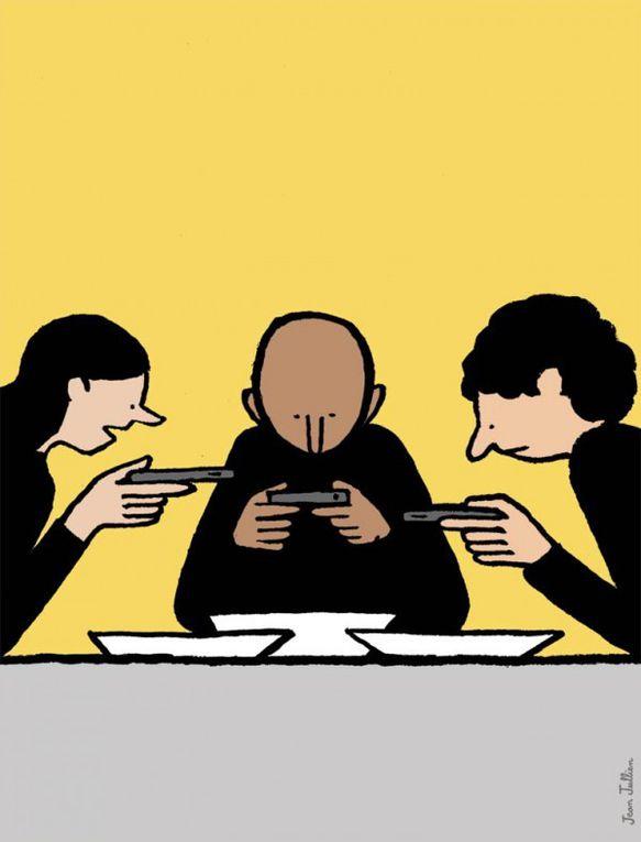 Quelques dessins sympas,surtout les pseudo aveugles obsédés par leur smartphone.