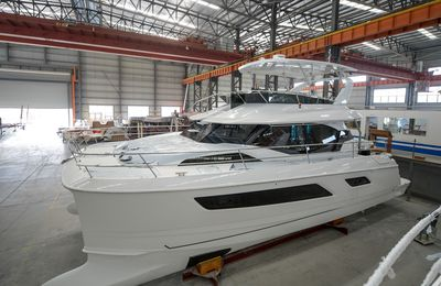 Aquila Power Catamaran launches its 100th 44-foot catamaran