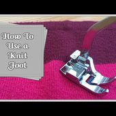 How to Use a Knit Foot :: by Babs at Fiery Phoenix