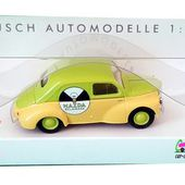 RENAULT 4CV MAZDA BUSCH 1/87. - car-collector.net: collection voitures miniatures