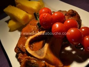 Jarret de Boeuf Braisé à la Tomate & Polenta