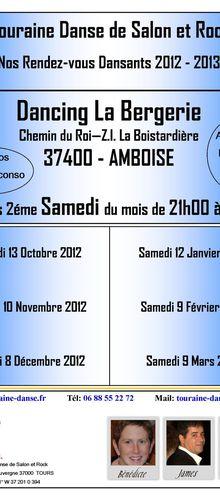 Touraine Danse au Dancing la Bergerie à Amboise - Samedi 8 Décembre 2012