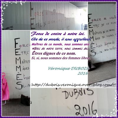 Femmes - Acrostiche - Street Arts - Seraing - Vie feminine