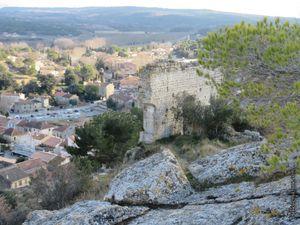 La vue du haut du rocher...