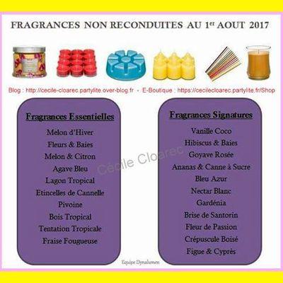 """Fragrances non reconduites au catalogue """"Automne"""" 2017"""
