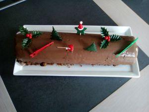 Bûche aux trois chocolats (companion ou pas)