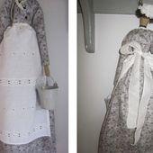la petite maison de Sylvie: Poupée Tilda: Hortence, servante 1900