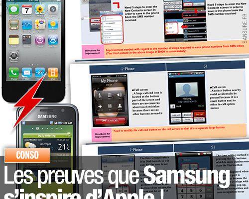 Les preuves que Samsung s'inspire d'Apple !