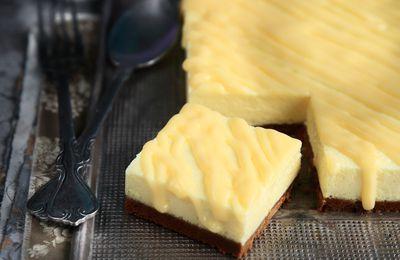 Carrés cheesecake au fromage blanc et citron