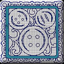 La grille du bloc couture N° 6 contours:les boutons.