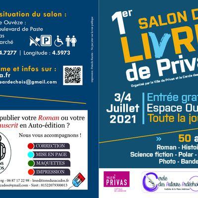 Salon du livre de Privas,  juillet 2021