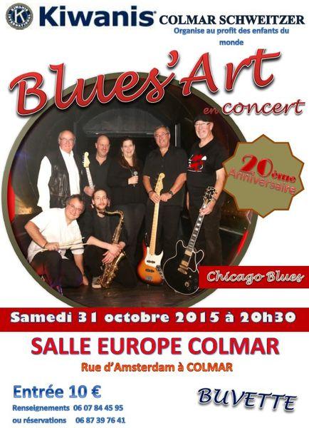 Concert Blues' Art du 31 octobre 2015