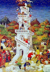 Représentation de la Tour de Babel - 1423