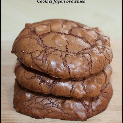 Cookies façon brownie au chocolat
