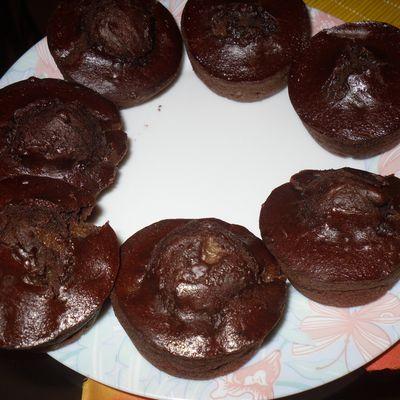 Muffins, poire, chocolat