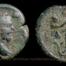 Side in Pamphylia, 193-211 AD., Septimius Severus, Æ18, SNG Pfalz 686.