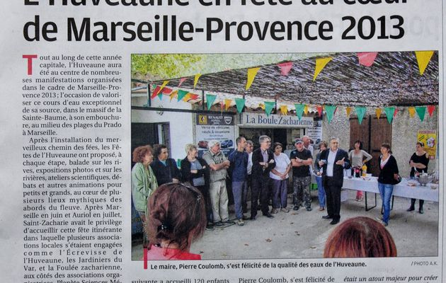 Article de presse Saint Zacharie