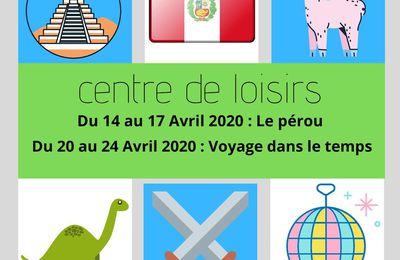 Centres de loisirs - GIP Arc en Ciel - Ménil-la-tour- Avril 2020