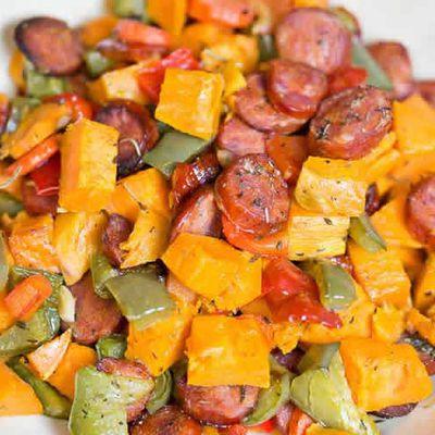 Saucisses aux légumes recette cookeo