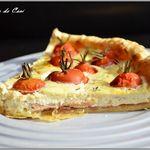 Tarte aux tomates cerises à la ricotta et au jambon Aoste