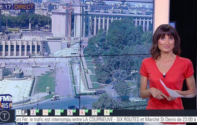 📸4 AURELIE BLONDE pour BONJOUR PARIS @JohannaCarlosD8 @BFMParis ce matin #vuesalatele