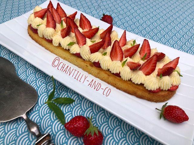 Tarte aux fraises et crème diplomate