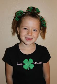 Wacky or Crazy Hair Day W/ St Patricks Day colors