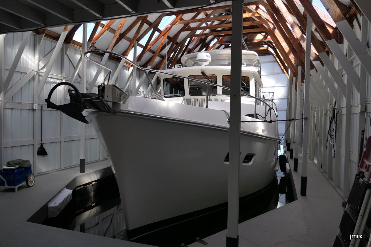 "Les boat houses de Olympia. Rick et son Selene 50' ""Jean Marie"""