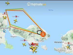 Agung - 10.01.2019 - Volcanic ash advisory / VAAC Darwin - Position du nuage de cendres / Flightradar  - un clic pour agrandir