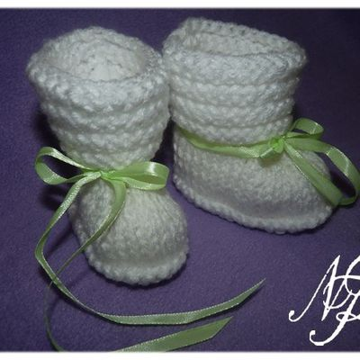 Chaussons layette mixte