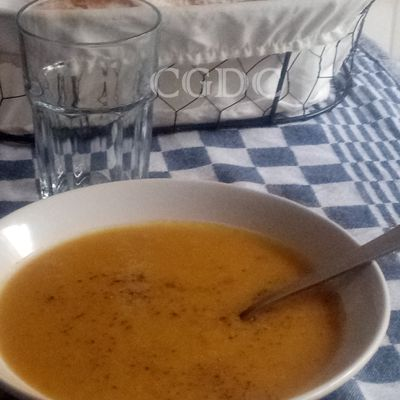 Potage de patates douces et butternut