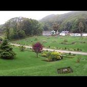 Goldwing irlande connemara abbaye ou château de Kylemore jardins