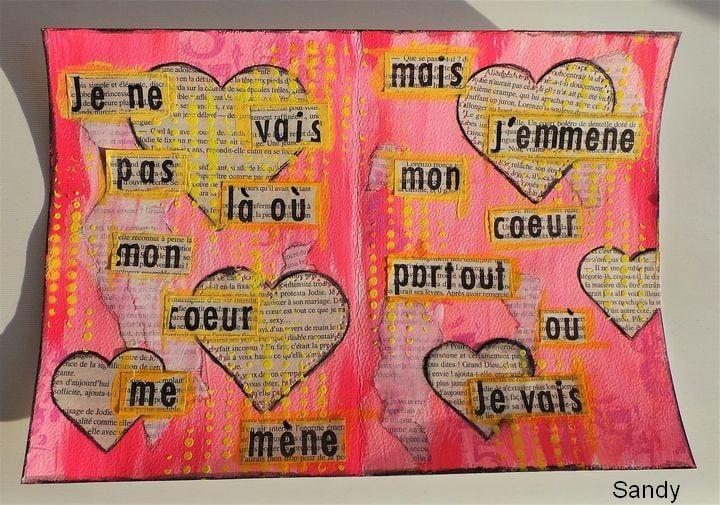 Art Journal - De la peinture plein les doigts - Défi 10 (2)